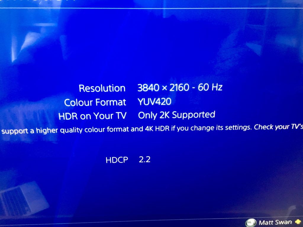 Only 2k Supported PS4 pro