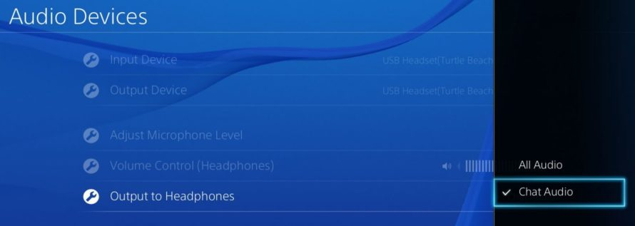 ps4 output to headphones
